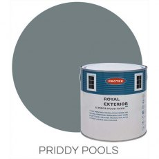 Protek Royal Exterior Paint 1 Litre - Priddy Pools Colour Swatch with Pot