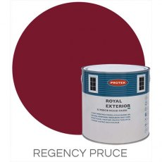 Protek Royal Exterior Paint 1 Litre - Regency Puce Colour Swatch with Pot