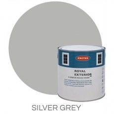 Protek Royal Exterior Paint 1 Litre - Silver Grey