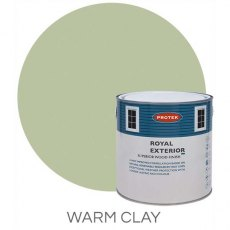 Protek Royal Exterior Paint 1 Litre - Warm Clay Colour Swatch with Pot