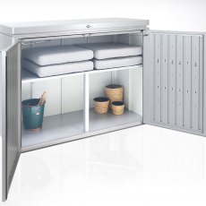 5 x 2 Biohort HighBoard 160 - Metallic Silver internal shelving