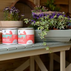 Thorndown Wood Paint 150ml - Goddess Green - Painted on planter