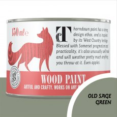 Thorndown Wood Paint 150ml - Old Sage Green - Pot shot