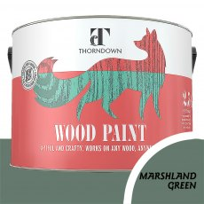 Thorndown Wood Paint 2.5 Litres - Marshlands Green - Pot shot