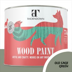 Thorndown Wood Paint 750ml - Old Sage Green - Pot shot