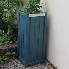 Thorndown Wood Paint 750ml- Avalon Blue - Painted on wooden planter