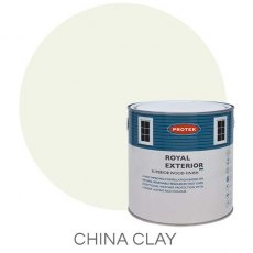 Protek Royal Exterior Paint 2.5 Litres - China Clay Colour Swatch with Pot