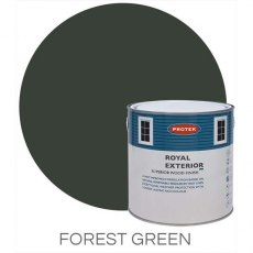 Protek Royal Exterior Paint 2.5 Litres - Forest Green Colour Swatch with Pot