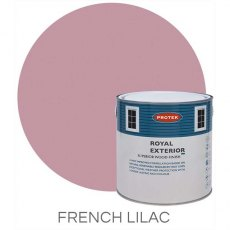 Protek Royal Exterior Paint 2.5 Litres - French Lilac Colour Swatch with Pot