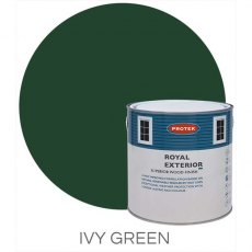 Protek Royal Exterior Paint 2.5 Litres - Ivy Green Colour Swatch with Pot