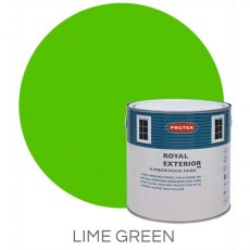 Protek Royal Exterior Paint 2.5 Litres - Lime Green Colour Swatch with Pot