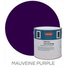 Protek Royal Exterior Paint 2.5 Litres - Mauveine Purple Colour Swatch with Pot