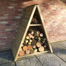 4 x 2 (1.2m x 0.62m) Shire Large Tongue and Groove Triangular Log Store - Pressure Treated