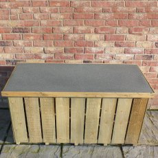 4 x 2 Shire Pressure Treated Log Box with Sawn Timber - from above, lid closed