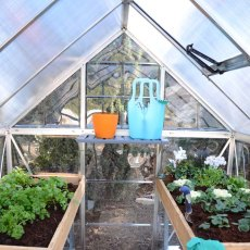 Palram Hybrid Greenhouse in Grey - interior