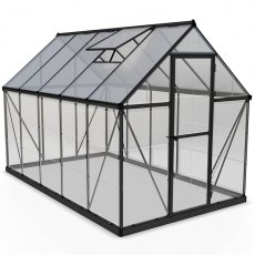 6 x 10 Palram Hybrid Greenhouse in Grey - isolated view