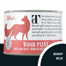 Thorndown Wood Paint 150ml - Bishop Blue - Pot shot