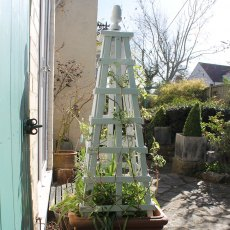 Thorndown Wood Paint - Zinc Grey - Painted on an obelisk
