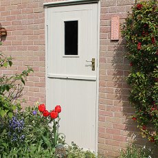 Thorndown Wood Paint 750ml - Doulting Stone - Painted on door