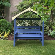 Thorndown Wood Paint 150ml - Peregrine Blue - Painted on bench