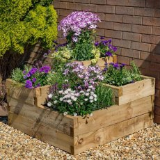 Forest Caledonian Tiered Raised Bed  - in situ