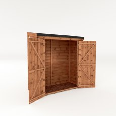 6x3 Mercia Shiplap Pent Storage - Pressure Treated