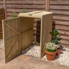 2x3 Mercia Bin Store - Single -  Pressure Treated - with background without bin
