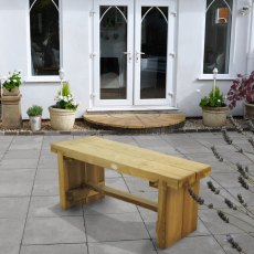 4ft (1.2m) Forest  Double Sleeper Bench - Pressure Treated