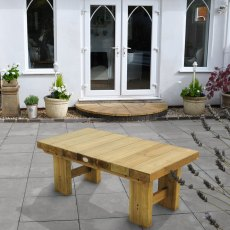4ft (1.2m) Forest Low Level Sleeper Table - Pressure Treated