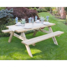 6ft (1.8m) Forest Rectangular Picnic Table - Pressure Treated