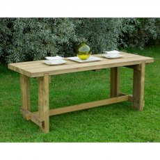 6ft (1.8m) Forest Refectory Table - Pressure Treated