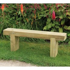 4ft (1.2m) Forest Sleeper Bench - Pressure Treated