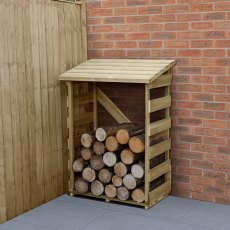 3 x 2 (0.90m x 0.57m) Forest Compact Slatted Log Store - Pressure Treated