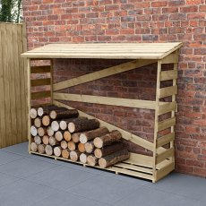 6 x 2 (1.74m x 0.57m) Forest Large Slatted Log Store - Pressure Treated