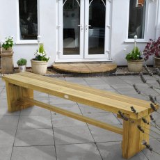 6ft Forest Double Sleeper Bench -  Pressure Treated - insitu