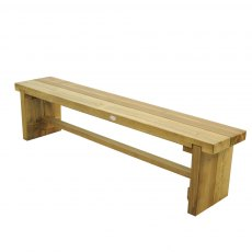 6ft Forest Double Sleeper Bench -  Pressure Treated - isolated and angled
