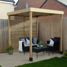 Forest Modular Pergola with 1 Side Panel - Pressure Treated