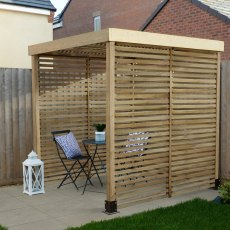 Forest Modular Pergola with 3 Side Panels - Pressure Treated