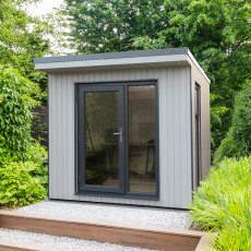 8x9 Forest Xtend 2.5 Insulated Garden Office - used as a home office