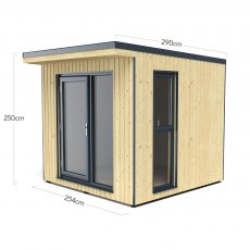 8x9 Forest Xtend 2.5+ Insulated Garden Office - dimensions