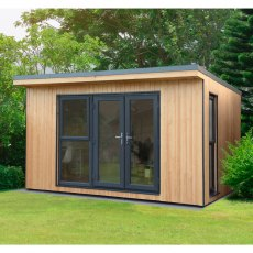 13x11 Forest Xtend 4.0+ Insulated Garden Office with Double Door - insitu