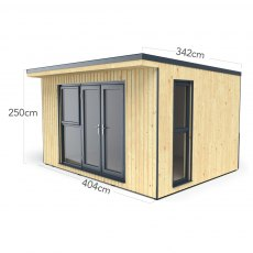 13x11 Forest Xtend 4.0+ Insulated Garden Office with Double Door - dimensions