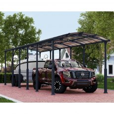 12x42 Palram Arcadia Alpine 12700 Carport undercover protections for even the largest vehicles