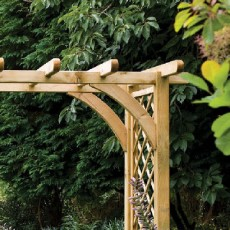 Forest Ultima Pergola Arch - Large - close up of top of arch