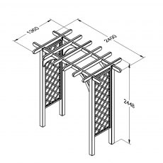 Forest Ultima Pergola Arch - Large - dimensions