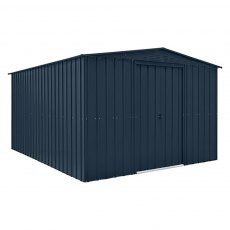 10 x 12 (3.07m x 3.71m) Lotus Apex Metal Shed in Anthracite Grey