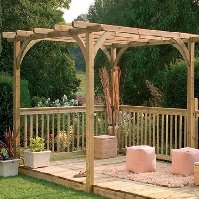 Forest Garden 16 x 8 (4.88m x 2.44m) Ultima Deck Kit including Pergola