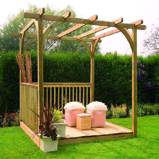 8x8 Ultima Deck Kit including Pergola