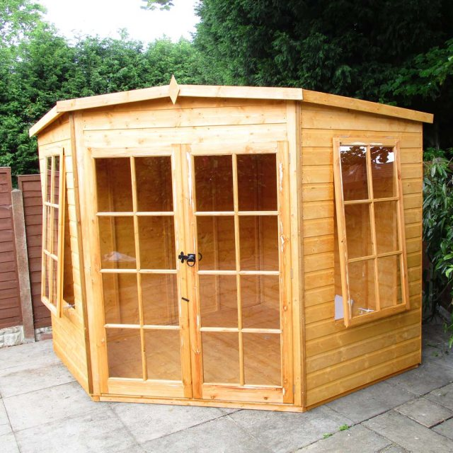 Shire Hampton Corner Summerhouse - Customer image unpainted