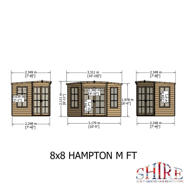Shire Hampton Corner Summerhouse - Customer image painted blue